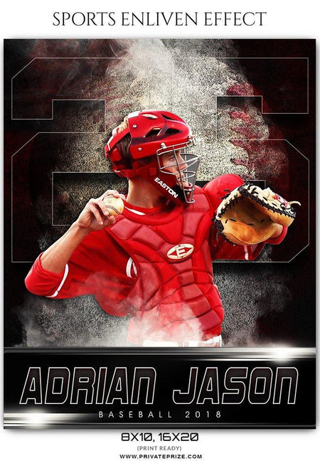 Adrian Jason - Baseball Sports Enliven Effects Photography Template - Photography Photoshop Template