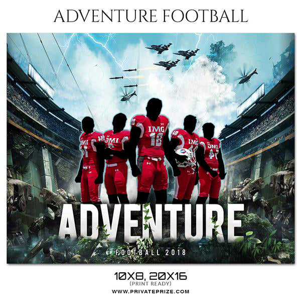 Adventure - Football Themed Sports Photography Template