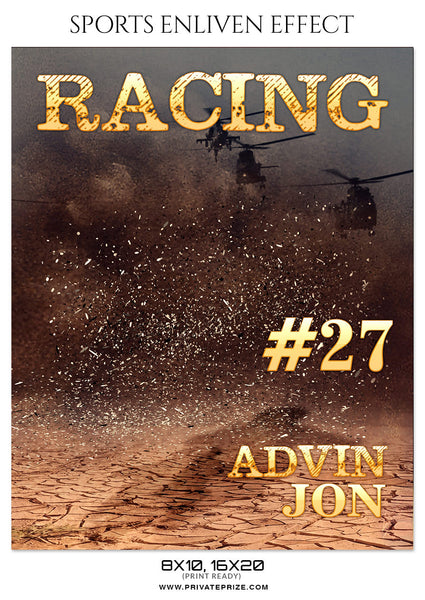 ADVIN-JON-RACING- SPORTS ENLIVEN EFFECT - Photography Photoshop Template