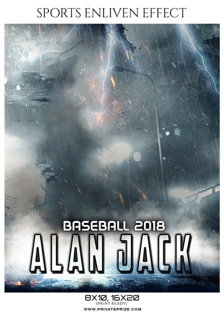 Alan Jack - Baseball Sports Enliven Effects Photography Template - Photography Photoshop Template