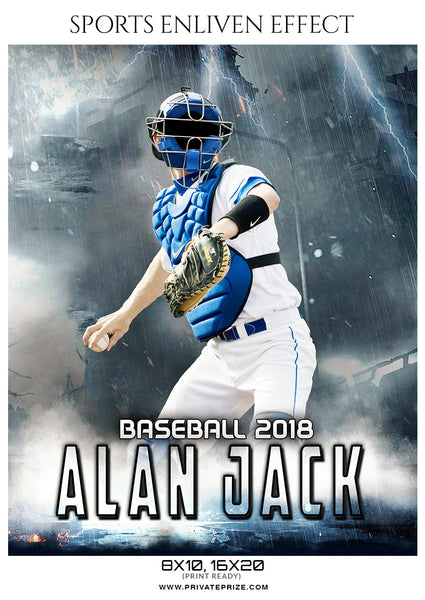 Alan Jack - Baseball Sports Enliven Effects Photography Template