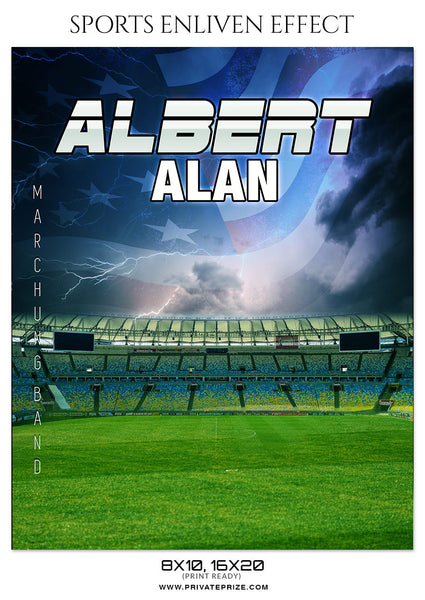 ALBERT ALAN-MARCHING BAND- SPORTS ENLIVEN EFFECT - Photography Photoshop Template