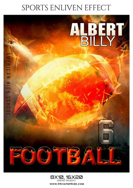 ALBERT BILLY-FOOTBALL- SPORTS ENLIVEN EFFECT - Photography Photoshop Template
