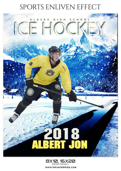 Albert Jon Ice Hockey - Sports Photography Template - Photography Photoshop Template