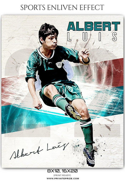 Albert Luis - Soccer Sports Enliven Effects Photography Template - Photography Photoshop Template