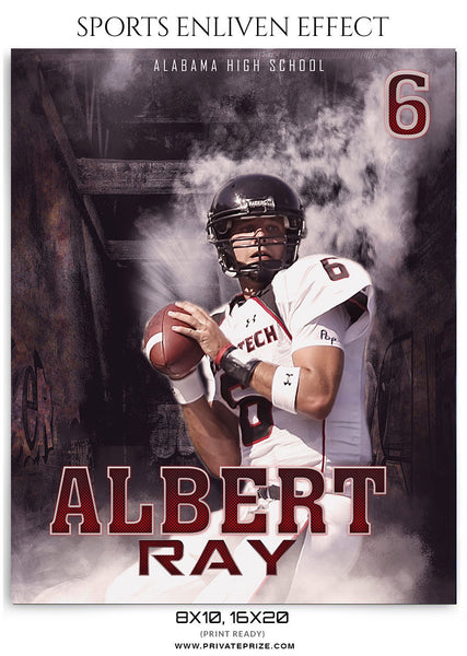 Albert Ray Football-Sports Enliven Effect - Photography Photoshop Template