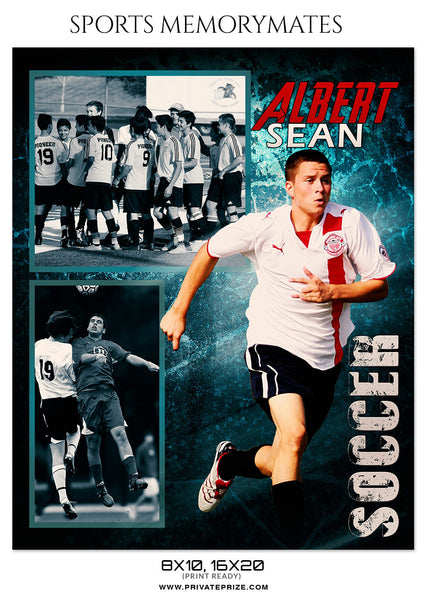 ALBERT-SEAN-SOCCER- SPORTS MEMORY MATE - Photography Photoshop Template