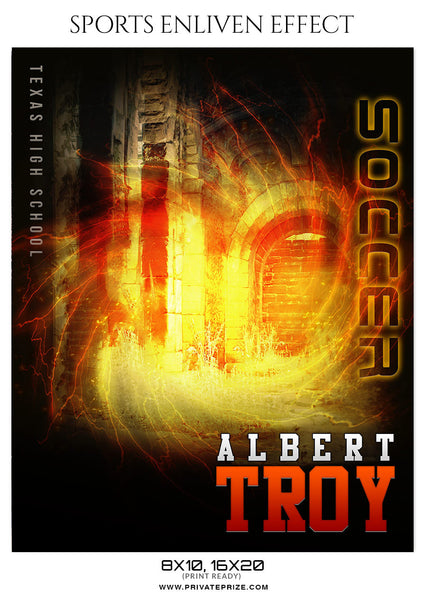 ALBERT TROY-SOCCER - SPORTS ENLIVEN EFFECT - Photography Photoshop Template