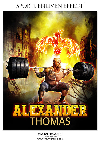 ALEXANDER THOMAS-FITNESS - SPORTS ENLIVEN EFFECT - Photography Photoshop Template