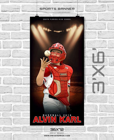 Alvin Karl - Baseball Enliven Effects Sports Banner Photoshop Template - Photography Photoshop Template