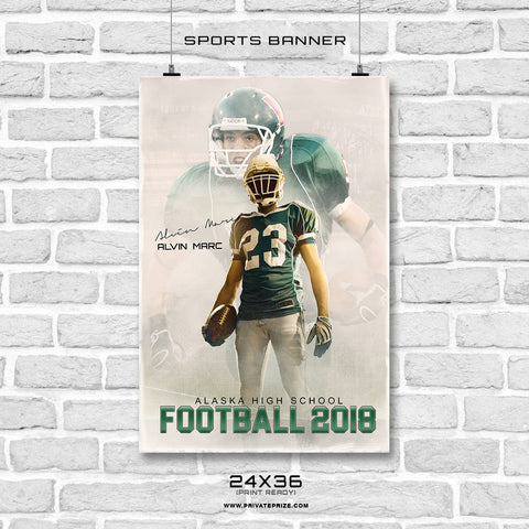 ALVIN MARC FOOTBALL-banner  Photoshop Template