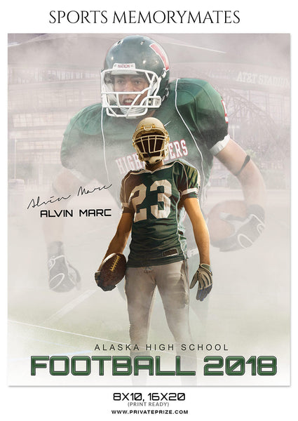 ALVIN MARC FOOTBALL SPORTS MEMORY MATE