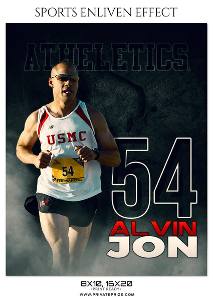 ALVIN JON-ATHLETICS - SPORTS ENLIVEN EFFECT - Photography Photoshop Template