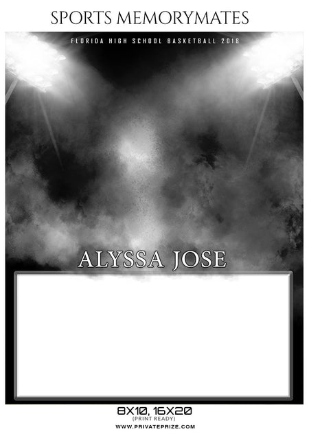 Alyssa Jose - Basketball Sports Memory Mates Photography Template - Photography Photoshop Template