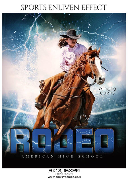 Amelia Curtis - Rodeo Sports Enliven Effects Photography Templates - Photography Photoshop Template
