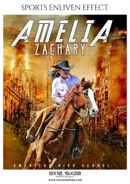 Amelia Zachary - Rodeo Sports Enliven Effects Photography Templates