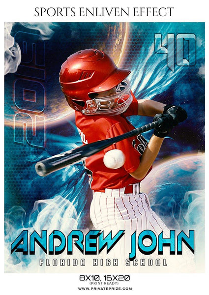 Andrew John - Baseball Sports Enliven Effects Photography Template