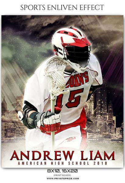 Andrew Liam - Lacrosse Sports Enliven Effects Photography Template