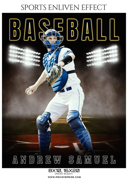 Andrew Samuel - Baseball Sports Enliven Effects Photography Template - Photography Photoshop Template