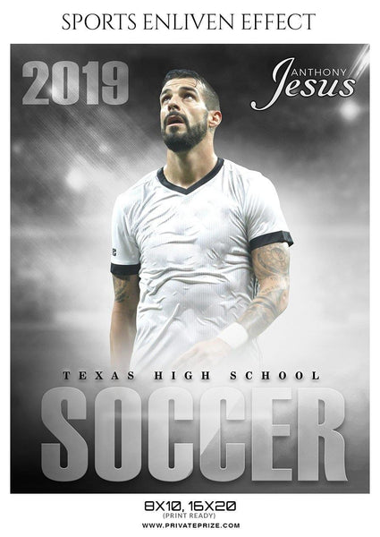 Sports Photography Photoshop Templates - Soccer
