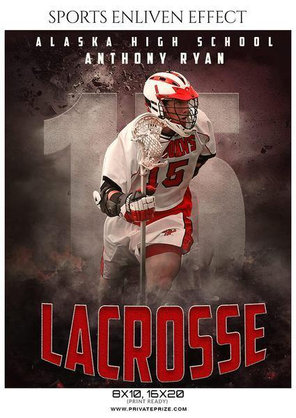 December - Lacrosse Bundle Photography Photoshop Template - Photography Photoshop Template