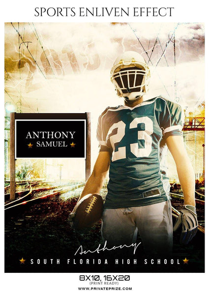Anthony Samuel - Football Sports Enliven Effect Photography Template