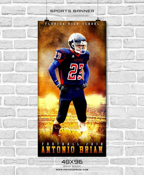 Antonio Brain - Football Sports Banner Photoshop Template - Photography Photoshop Template