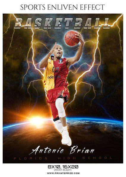 Antonio Brian - Basketball Sports Enliven Effect Photography Template