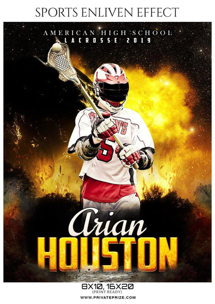 Arian Houston - Lacrosse Sports Enliven Effects Photography Template