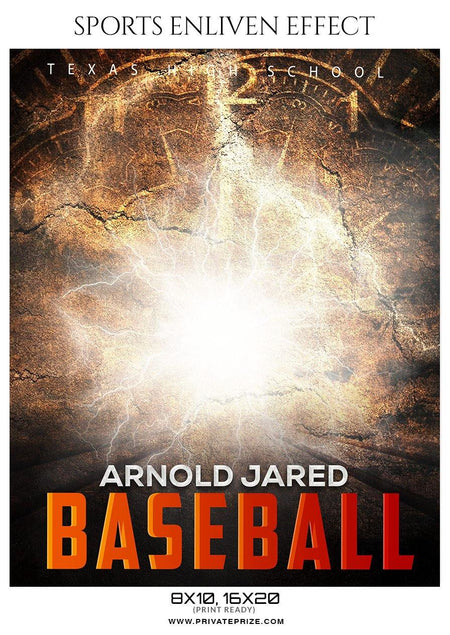 Arnold Jared - Baseball Sports Enliven Effects Photography Template - Photography Photoshop Template
