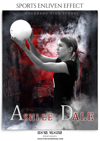 Ashlee Dale -Sports Enliven Effect - Photography Photoshop Template