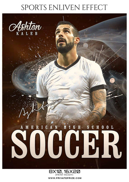 Ashton Kaleb - Soccer Sports Enliven Effects Photography Template