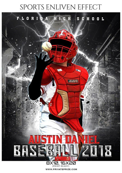 Austin Daniel - Baseball Sports Enliven Effects Photography Template