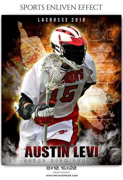 Austin Levi - Lacrosse Sports Enliven Effects Photography Template