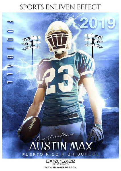Austin Max - Football Sports Enliven Effect Photography Template
