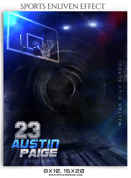 Austin Paige Basketball Sports Photography - Enliven Effects - Photography Photoshop Template