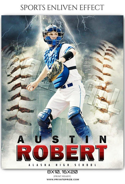 Austin Robert - Baseball Sports Enliven Effects Photography Template - Photography Photoshop Template