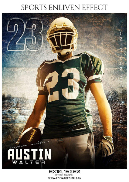 Austin Walter - Football Sports Enliven Effects Photography Template