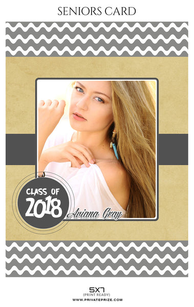 Aviana Gray - Senior Photo Card