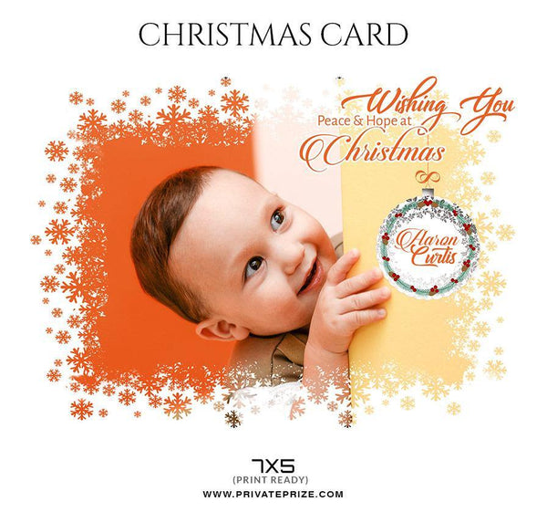 Aaron Curtis - Christmas Card - Photography Photoshop Template