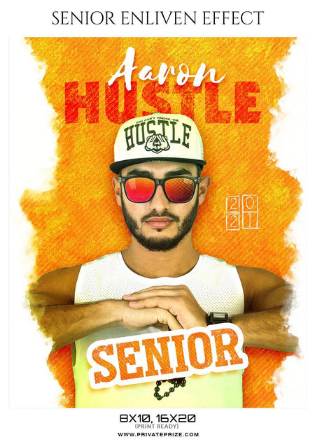 Aaron Hustle - Senior Enliven Effect Photography Template
