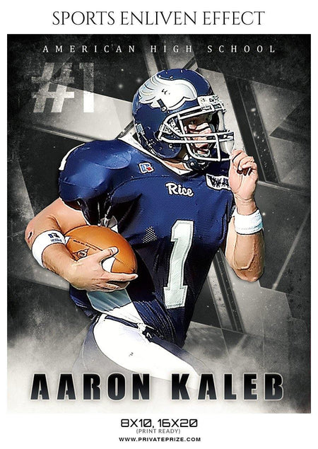 Aaron Kaleb - Football Sports Enliven Effect Photography Template