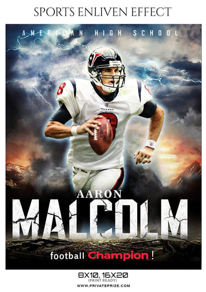 Aaron Malcolm - Football Sports Enliven Effects Photography Template