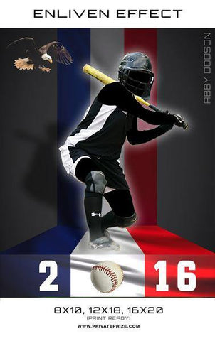 Abby Softball Sports Template -  Enliven Effects