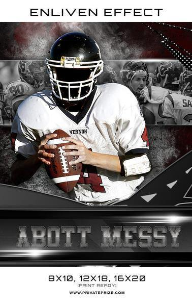 Abott Messy Football Sports Template -  Enliven Effects