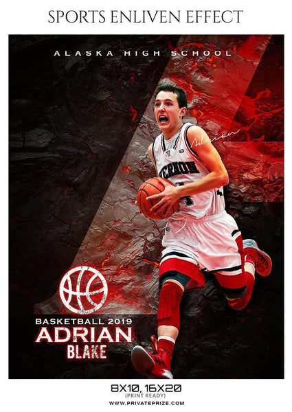 Adrian Blake - Basketball Sports Enliven Effect Photography Template