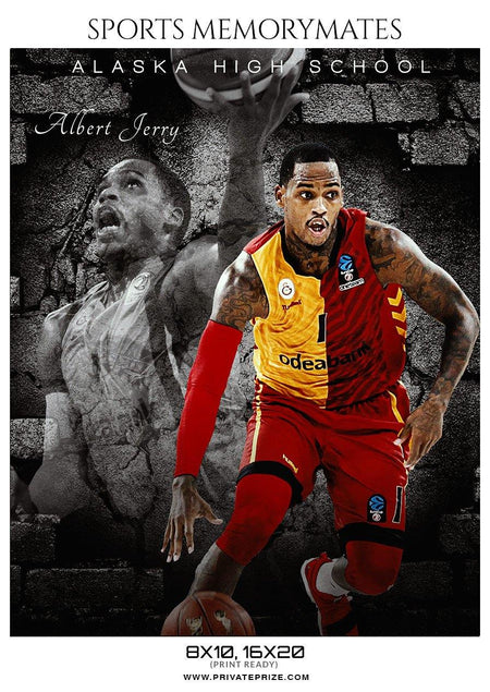 Albert Jerry - Basketball Memory Mate Photoshop Template