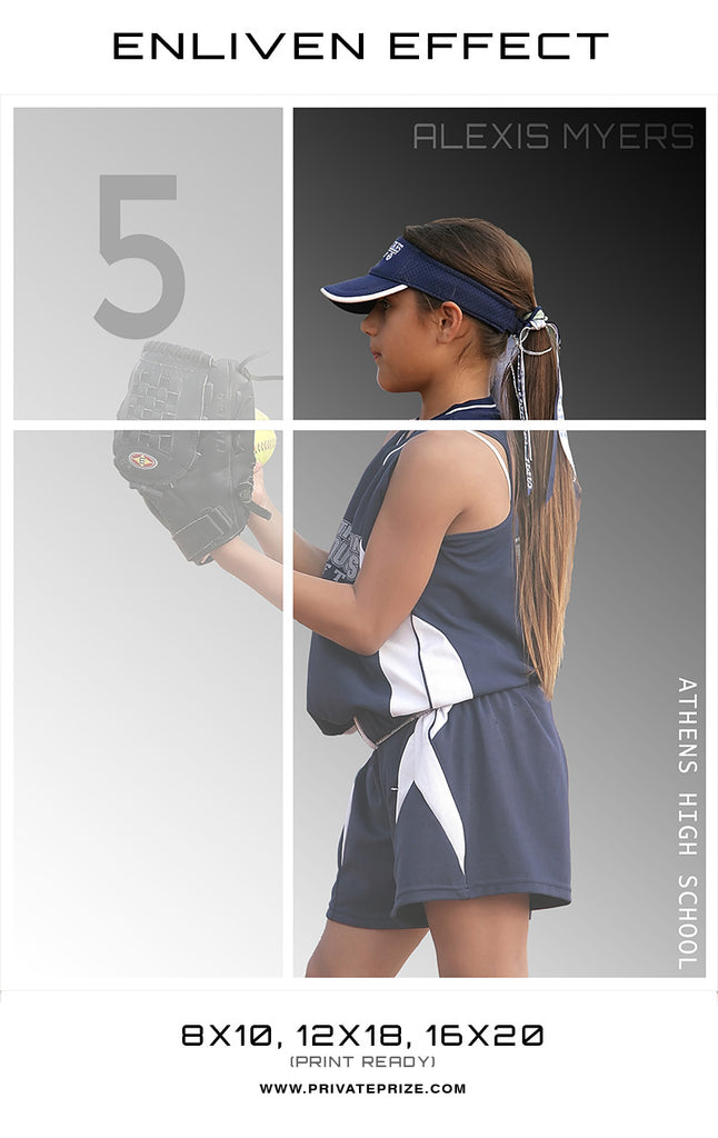 Alexis Athens High School Sports Template -  Enliven Effects - Photography Photoshop Templates