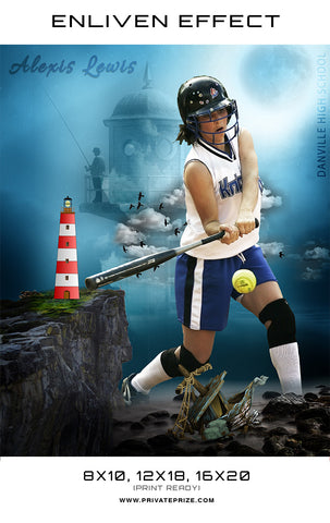 Alexis Danville High School Sports Template -  Enliven Effects - Photography Photoshop Templates