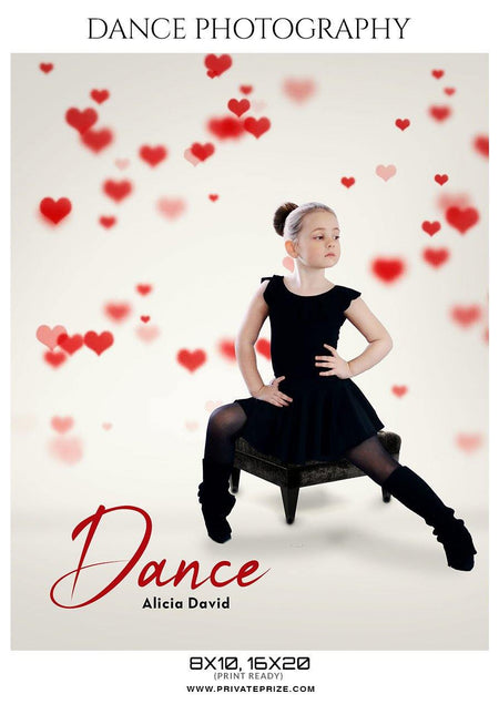 Alicia David - Dance Photography Templates - Photography Photoshop Template